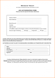 Ach Authorization Form Template Business 8 Letter With Rega Nayvii