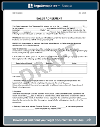 Sale Agreement Forms Sales Agreement Magdalene Project Org
