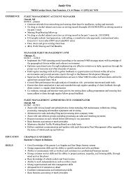 Download Fleet Management Resume Sample as Image file