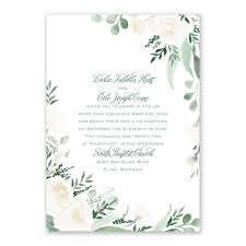Wedding Invitation With Photo Painted Garden Invitation With Free Response Postcard