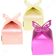 new 3 colors wedding favour boxes erfly gift diy candy bag 50 100 pcs set