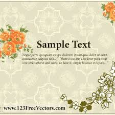 flower wedding invitation card vector freevectors net Wedding Card Vector Graphics Free Download Wedding Card Vector Graphics Free Download #47 Vector Background Free Download
