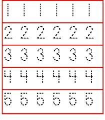 Tracing Numbers 1-5 Worksheet for Preschoolers and kindergarten ...