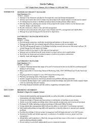 Sample Resume For Project Manager In Manufacturing SAP Project Manager Resume Samples Velvet Jobs 54