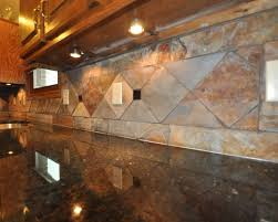 Granite Kitchen Tiles Slate Tile Backsplash Uba Tuba Granite Kitchen Tile Design