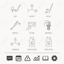 Baseball Chart Football Ice Hockey And Baseball Icons Basketball Team Assistant