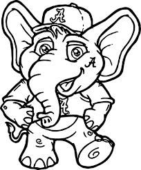 Elephant Coloring Pages Printable Okl Mindsprout Co