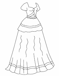 Coloring Pages Of Dresses Girl In Formal Dress Coloring Pages