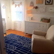 rug on carpet nursery. Nursery With Graphic Navy Blue Area Rug On Carpet D