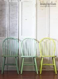 ombre windsor chairs if i ever decide to redo our cur kitchen chairs i would love to do this