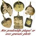 Gravure photo sur bijoux or, argent