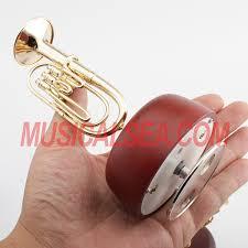 miniature metallic euphonium model rotating m