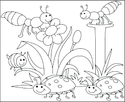 Spring Flowers Coloring Pages Printable At Getdrawingscom Free