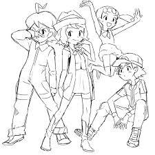 Kleurplaat Pokemon Stan 10 Ash Drawing Drawing Xy For Free Download