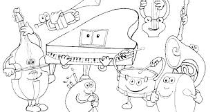 Music Coloring Page Music Themed Coloring Pages Coloring Page Music