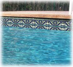 wave dark blue waterline pool tile