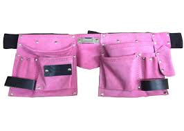 pink leather tool belt. fancy dress pink leather tool belt for hen nights builder outfit girls