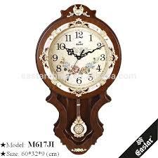 antique wooden pendulum wall clock home decor on clocks with in india w pendulum wall clock