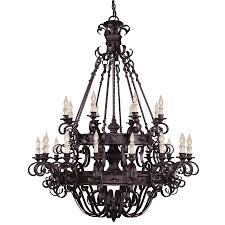 black candle chandelier