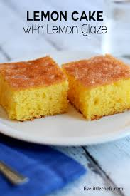 Moist Lemon Cake Five Little Chefs