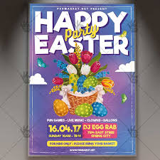 Happy Easter Party Premium Flyer Psd Template