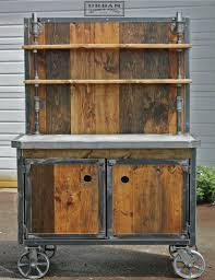 industrial wood furniture. awesome wood and steel combo bar cart juxtaposition of u0026 the burly by urban industrial furniture
