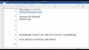 How To Prepare And Format A Legal Pleading In Word 2016 Youtube