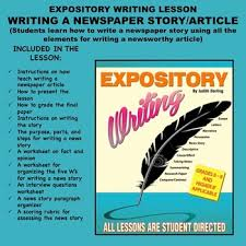Writing A Newspaper Article Expository Writing Lesson Plan Writing A Newspaper Story