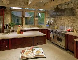 Kitchen With Stone Backsplash Stone Kitchen Interior Decoration Ideas Small Design Ideas