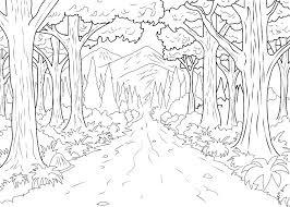 Forest Coloring Page Kinkenshopinfo