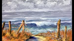 how to paint a romantic ocean waves beginning acrylic painting tutorial by ginger cook
