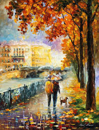 oil painting palette knife impressionist impressionism surreal strolling with my friends