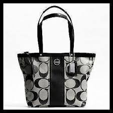 Coach Large Black Signature Tote