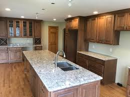 oconomowoc rustic hickory cabinet kitchen remodel pecan cabinets this gorgeous very functional installed all new custom