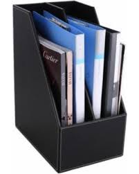File holder box Filing Office Modern Black Desk Magazine File Holder two Divided Handmade Synthetic Leather Desktop Storage Organizer Better Homes And Gardens Amazing New Deals On Office Modern Black Desk Magazine File Holder