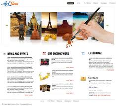 Artist Website Templates Classy Free Website Templates