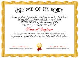 Free Employee Of The Month Certificate Template Unique Certificate Creator Certificate Maker Certificate Templates