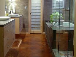 Wide plank tile for bathroom. Great grey color! Great option if you can'