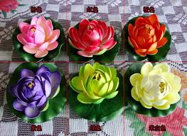 2019 home garden decoration 10cm simulation flower artificial silk lotus flower floating water plants from belter 85 06 dhgate com