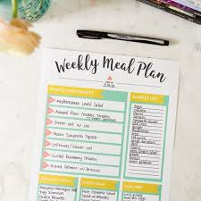 Meal Planning Tips Free Meal Planning Printable Eating