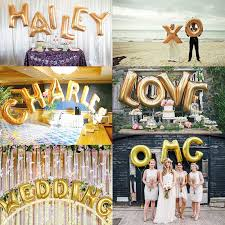 1 Piece 16 inch Gold Foil Letter Balloons Hot Alphabet A Z for New Year Birthday