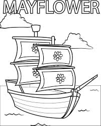 Free Printable Mayflower Coloring Page For Kids 3