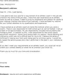 Cover Letter For Athletic Director Athletic Director Of Compliance ...