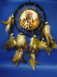 Indian Chief Dream Catcher Adorable Round Dream Catcher With Indian Chief Art Stuffs Pinterest