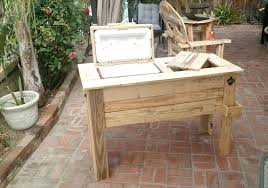 outdoor ice chest wood pallet cooler stand ideas low cost wooden plans outdoor ice chest wood cooler plans