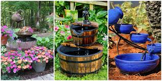 diy backyard water feature. Brilliant Water 18 Outdoor Fountain Ideas  How To Make A Garden For Your Backyard Inside Diy Water Feature Y