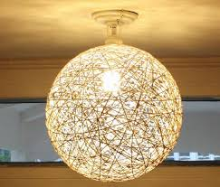 DIY Yarn Lampshade - 10 Creative Diy Light Lamps Ideas to Decorate Your Home