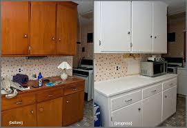 paint kitchen cabinets white re painting no sanding like a pro wood before and after