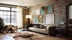 Image Rustic Modern Living Room With Rustic Brick Walls Rilane 20 Exposed Brick Walls In Modern Living Rooms Rilane