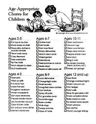 chart shows what age to give kids certain chores simplemost